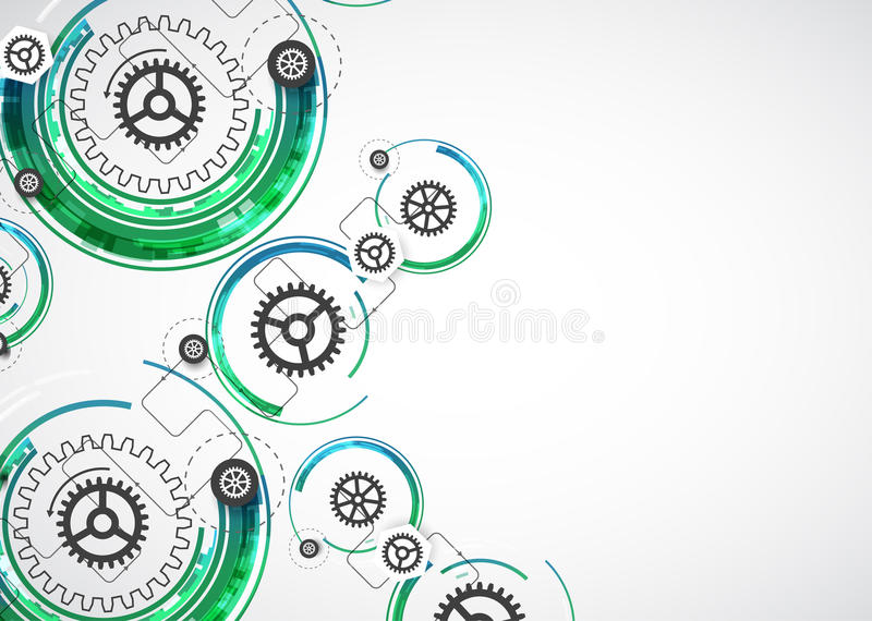 Download Backgroun Astratto Di Affari Di Tecnologie Informatiche Di Tecnologia Di Colore Illustrazione Vettoriale - Illustrazione di ingranaggio, verde: 56892847