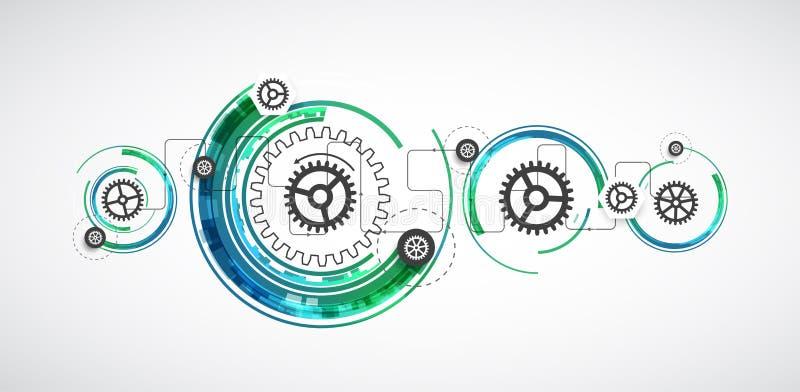 Download Backgroun Astratto Di Affari Di Tecnologie Informatiche Di Tecnologia Di Colore Illustrazione Vettoriale - Illustrazione di interfaccia, collegamento: 56893025