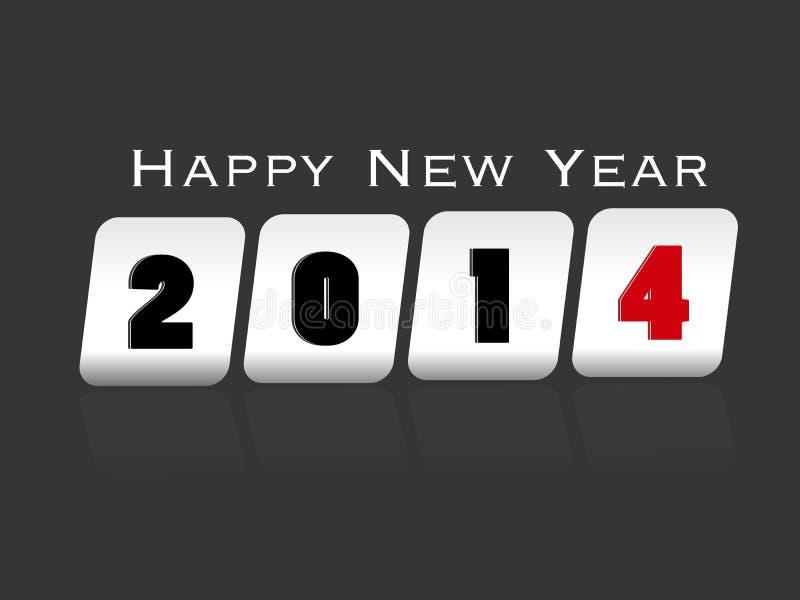 Backgroun creativo 2014 de la celebración de la Feliz Año Nuevo libre illustration
