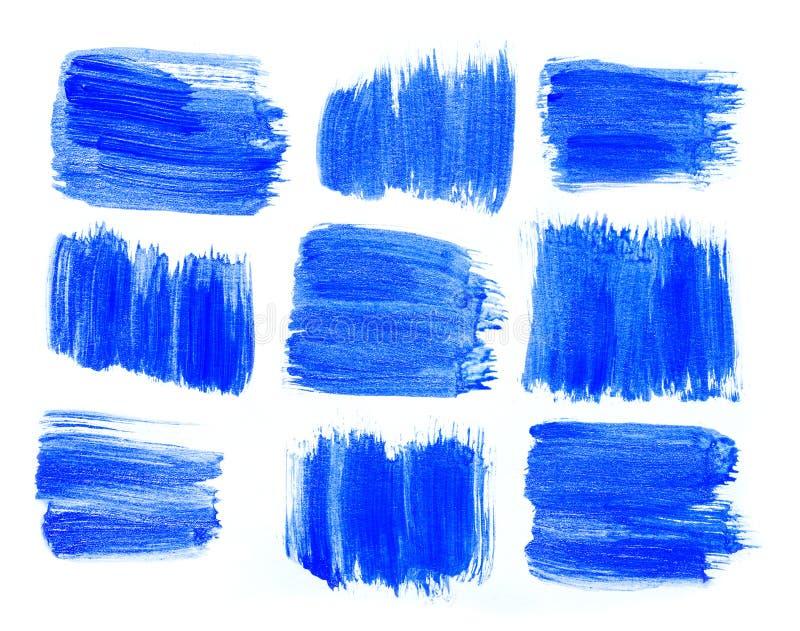 Backgroun creativo disegnato a mano blu astratto di arte della pittura acrilica fotografia stock libera da diritti