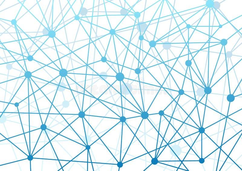 Backgroun de alta tecnología del wireframe del concepto futurista moderno de la conexión libre illustration