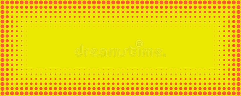 Backgroun de intervalo mínimo retro do ponto do teste padrão do estilo cômico vermelho e amarelo ilustração royalty free