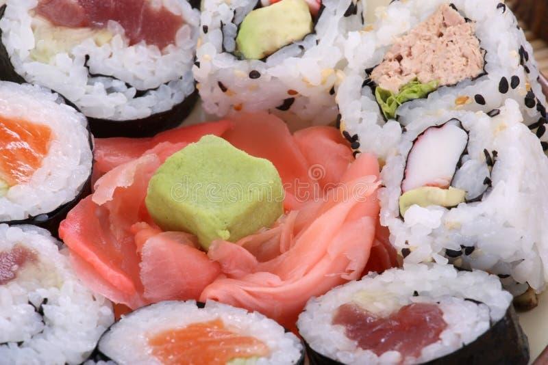 Backgroun dei sushi fotografie stock