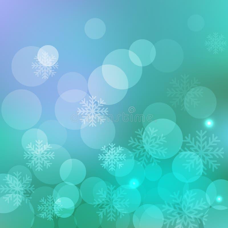 Backgroun del blu di Natale illustrazione vettoriale