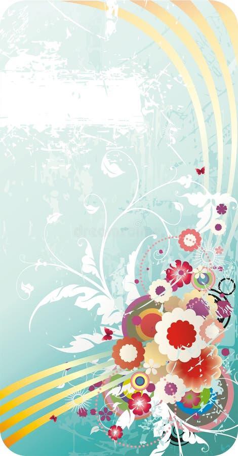 Backgroun floreale di vettore di estate illustrazione di stock