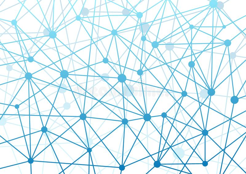 Backgroun futuristico moderno del wireframe di ciao-tecnologia di concetto del collegamento royalty illustrazione gratis