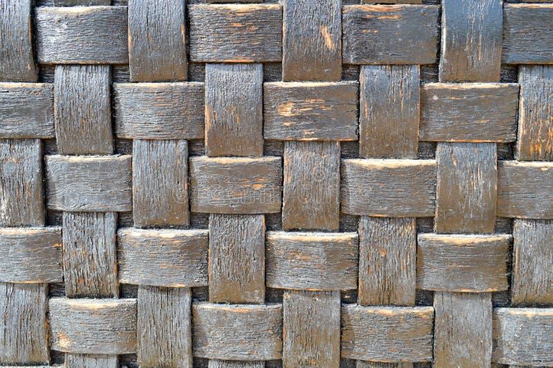 Backgroun homogêneo decorativo volumétrico gasto antigo de vime velho velho - azul - da textura quadriculado de madeira convexa p imagens de stock royalty free