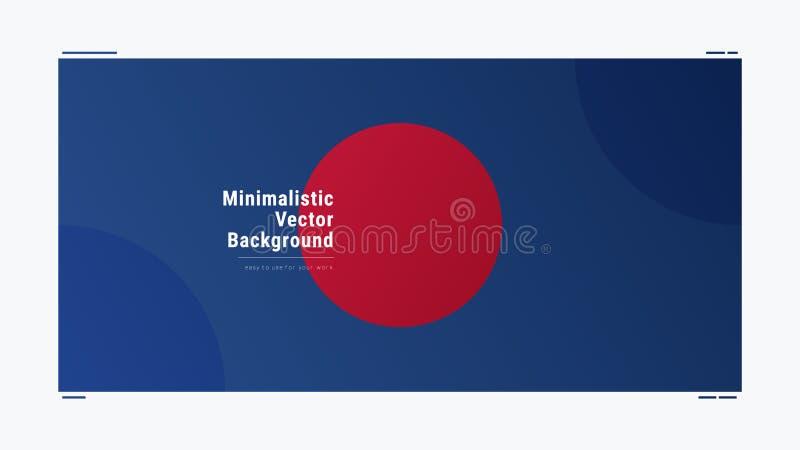 Backgroun moderne géométrique de vecteur de gradient minimalistic abstrait illustration stock