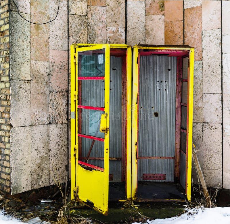 Backgroun radiactivo de la llamada-caja del pripyat de URSS del vintage vivo del cuadrado fotografía de archivo libre de regalías