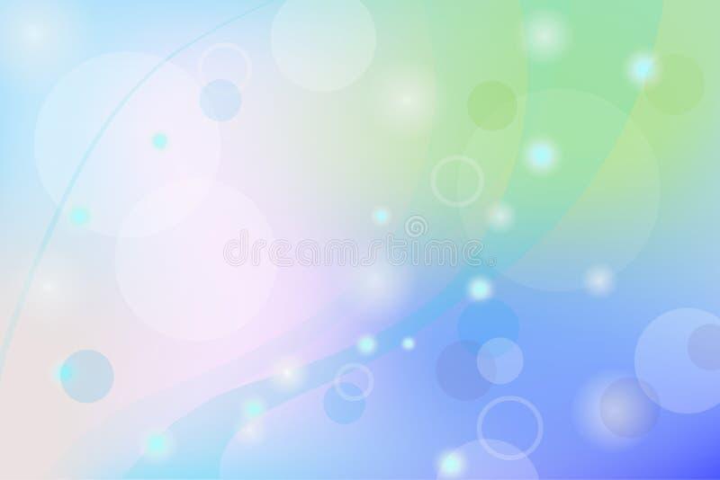 Backgroun rougeoyant abstrait bleu de Bokeh photographie stock