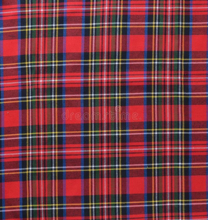 Backgroun rustique noir et blanc rouge de textile d'échantillon de tissu de plaid image libre de droits