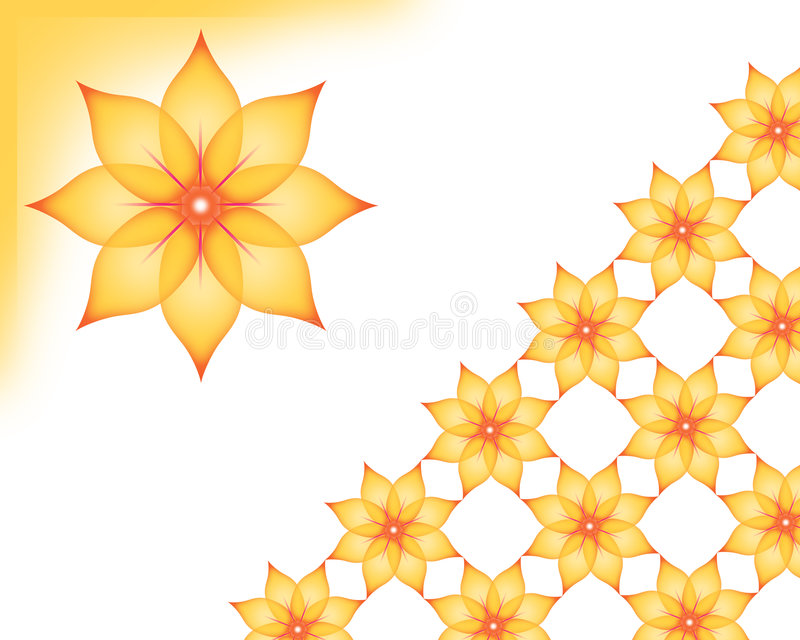 Background. Floral yellow Wallpaper - computer generated vector illustration
