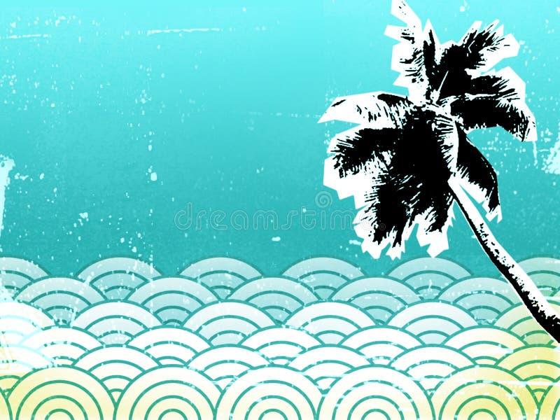 Background 11 beach stock illustration