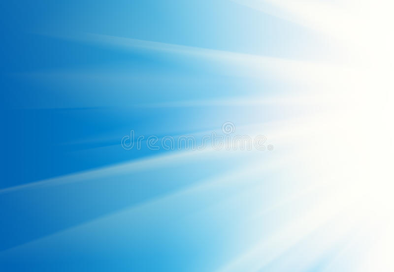 Background. Abstract white rays over blue sky background