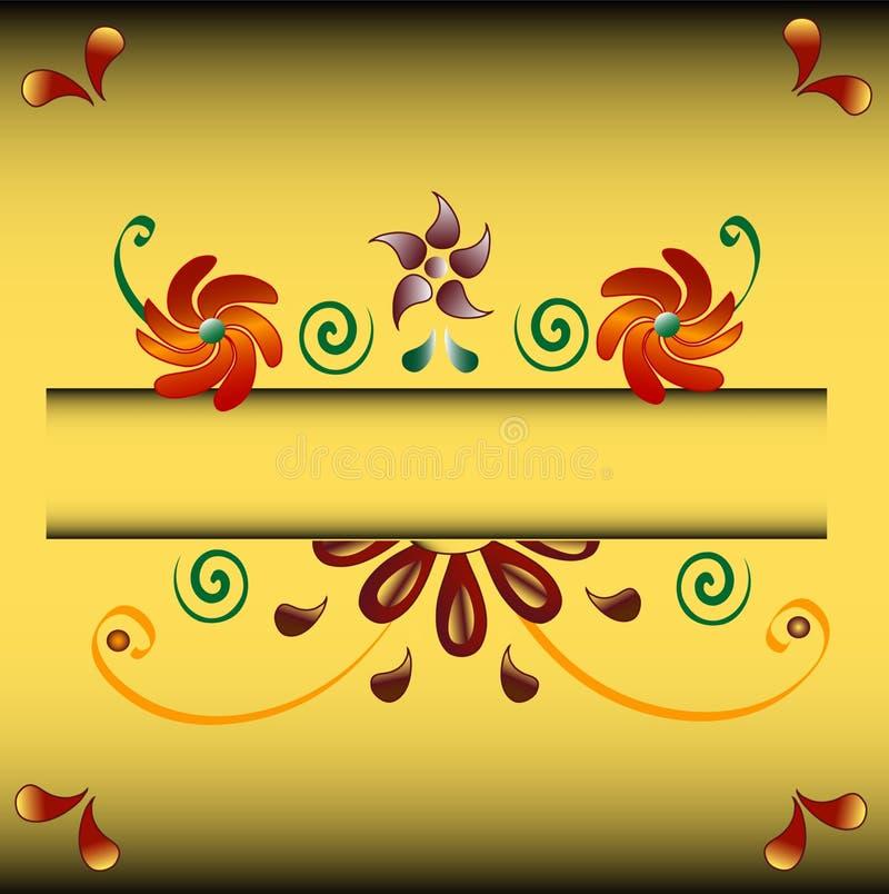 Background. Floral ornamental motive, frame for your text. Vector, jpg royalty free illustration