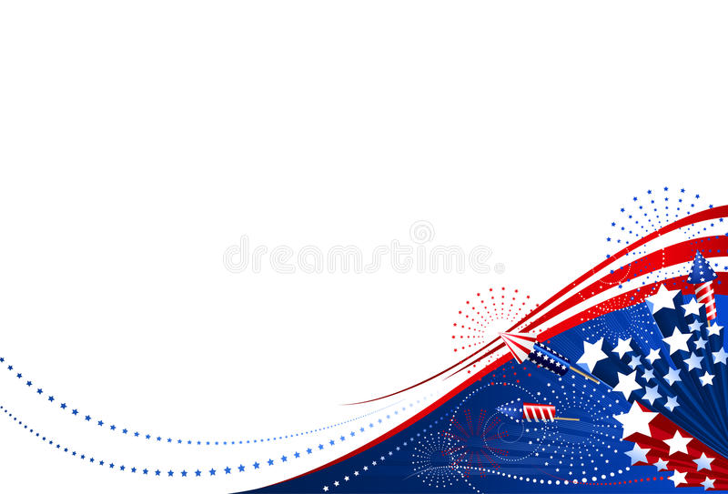 Background 4th of July stock illustration