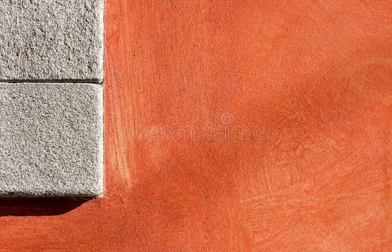 Background. Colored wall with stone inserts stock photos