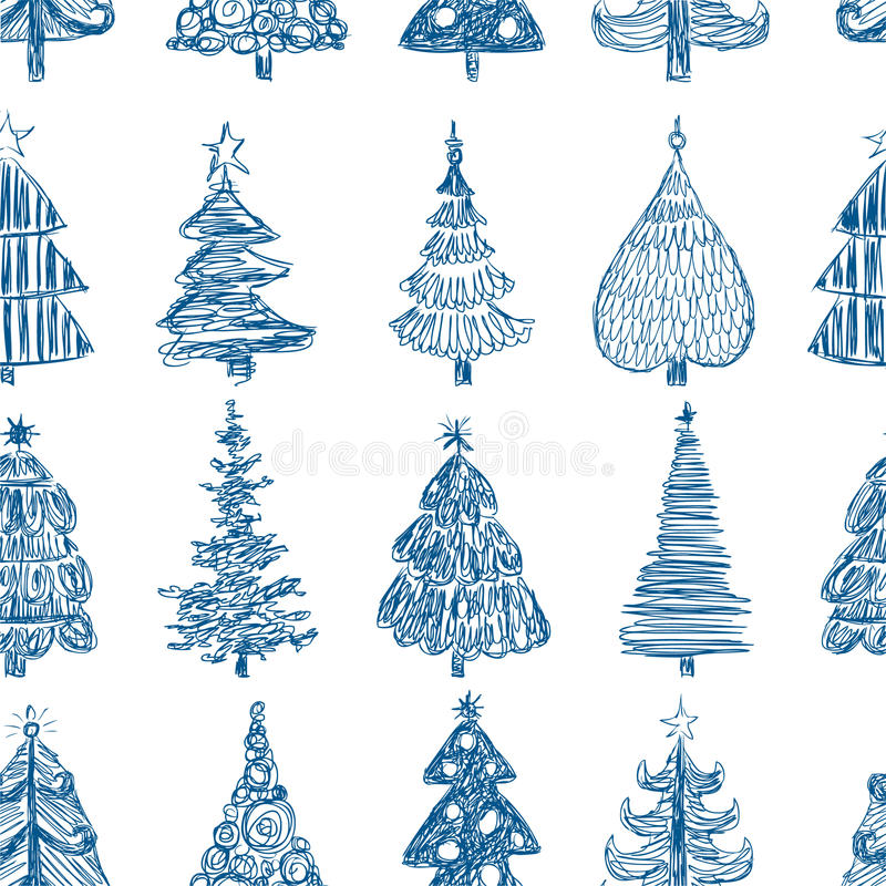 Background with the christmas trees royalty free illustration