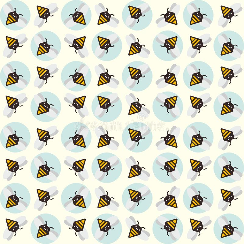 Background of abstract bees stock illustration