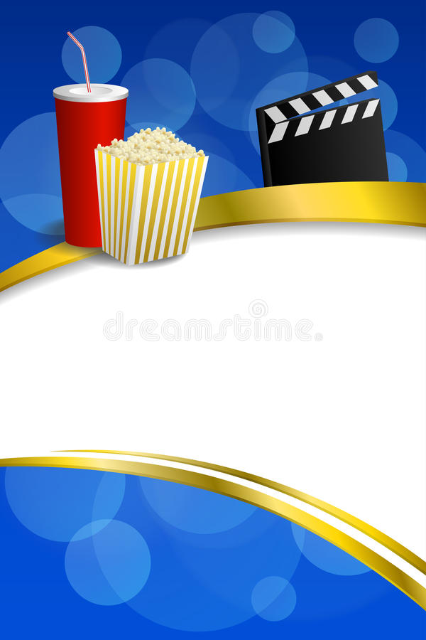 Download Background Abstract Blue Gold Red Drink Popcorn Movie Clapper Board Gold Frame Ribbon Vertical Illustration Stock Vector - Illustration of film, circle: 56560829