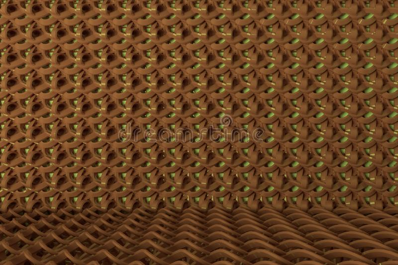Background abstract CGI composition, string mat geometric backdrop for design, graphic resource. 3D render. Background abstract, string mat geometric backdrop stock illustration