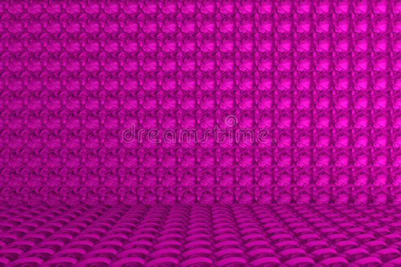 Background abstract CGI composition, string mat geometric backdrop for design, graphic resource. 3D render. CGI composition, geometric backdrop, string mat stock illustration