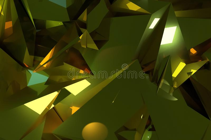 Background abstract CGI, random geometric backdrop for design, graphic resource. 3D render. vector illustration