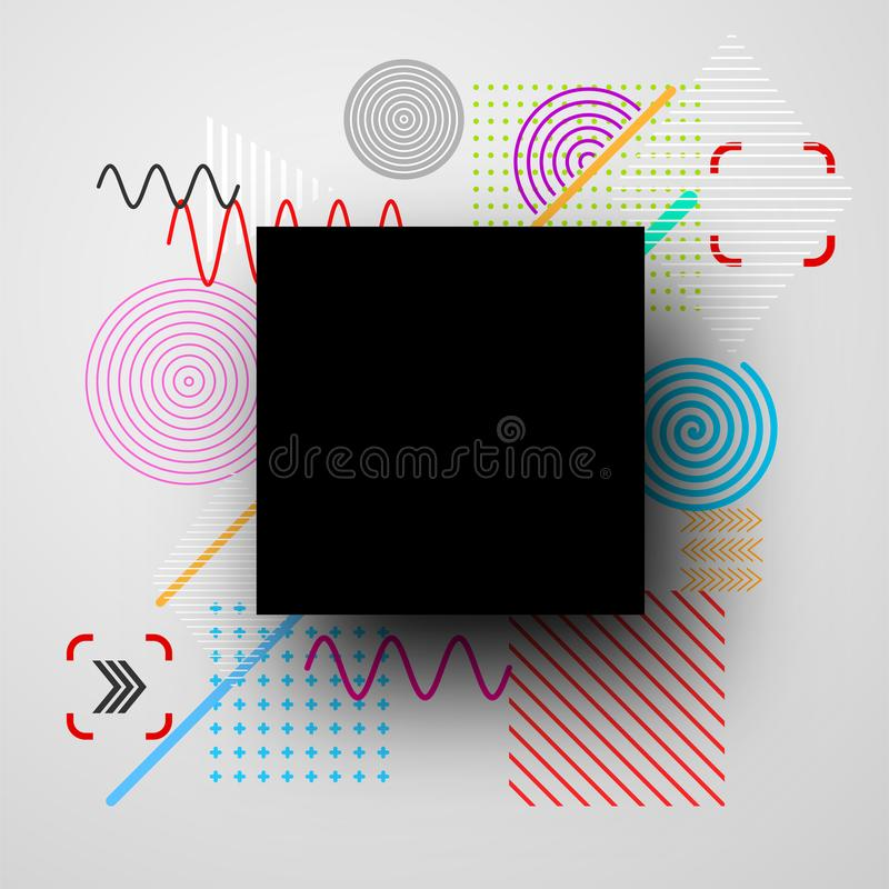 Background with abstract colorful pattern. royalty free illustration