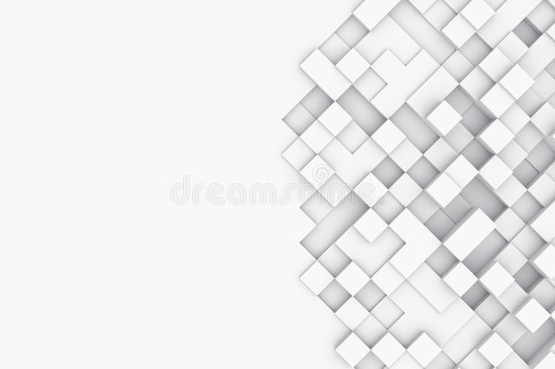 Background with abstract cubes. 3d illustration royalty free stock photo
