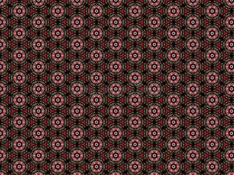 Background abstract decoration semiprecious stone coral round white red bamboo and leather royalty free illustration