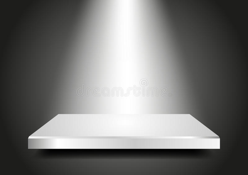 blank podium 3d. presentation template for your pr stock vector, Presentation templates