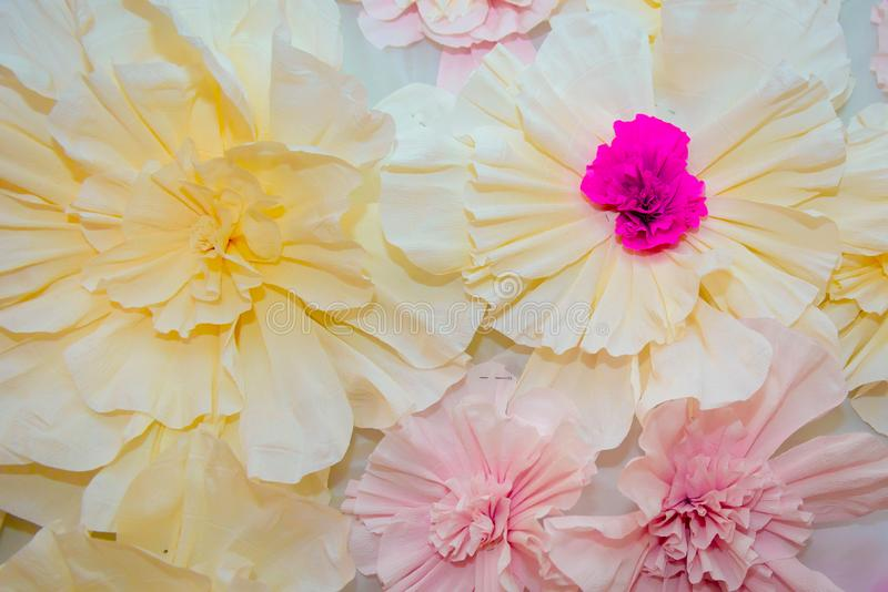Paper artificial flower the purple. royalty free stock image