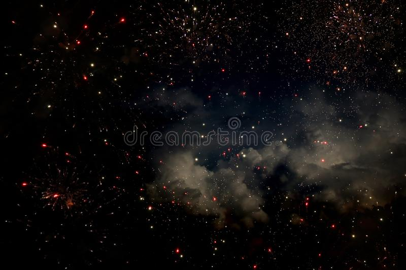 Background and abstract. Galaxy, nebula and Starry outer space texture royalty free stock images