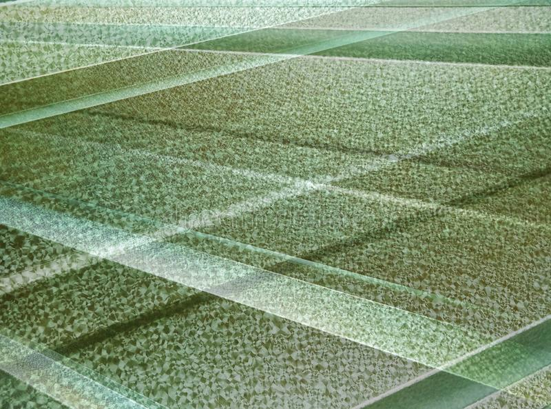 Background abstract green striped texture. Surface of metal stock photo
