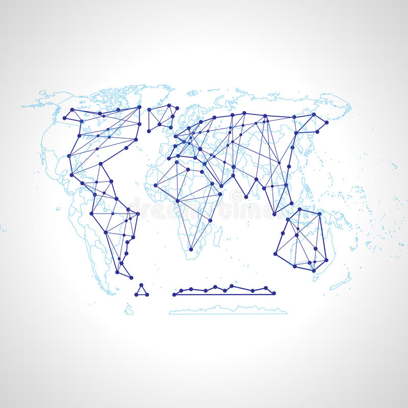 Background abstract illustration political map of the world royalty free illustration