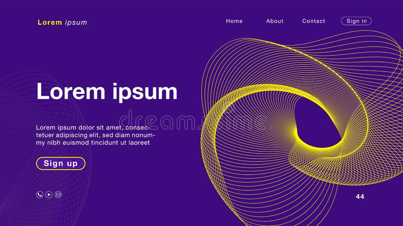 Background abstract purple yellow color for Homepage vector illustration