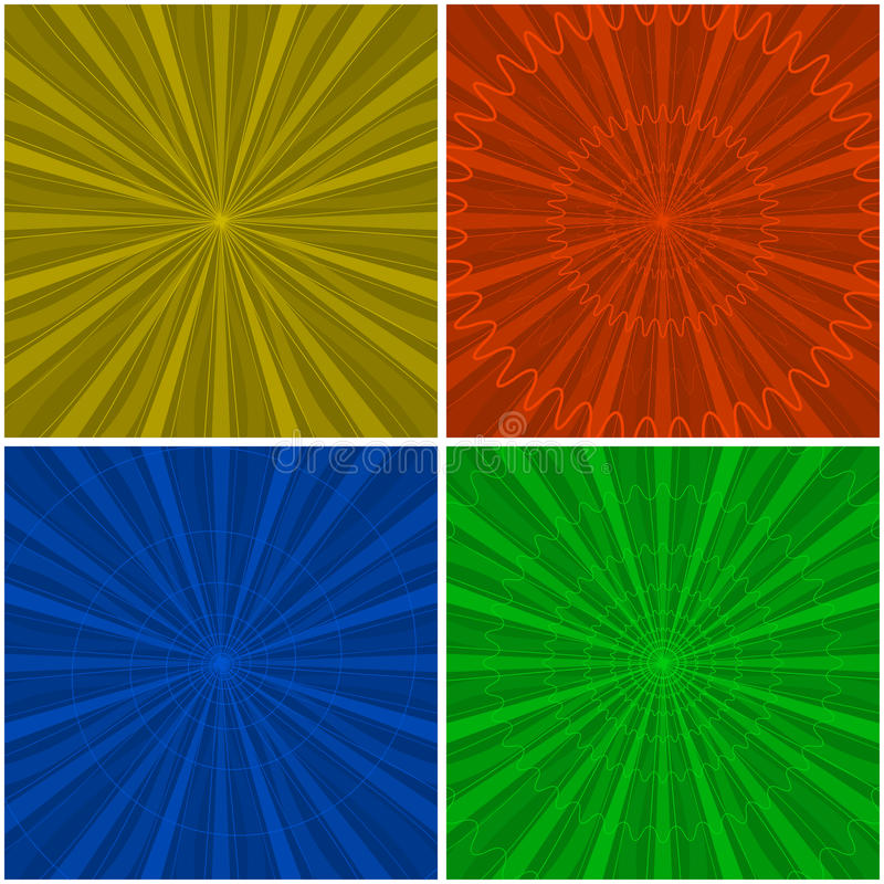 Background abstract radial, set royalty free illustration