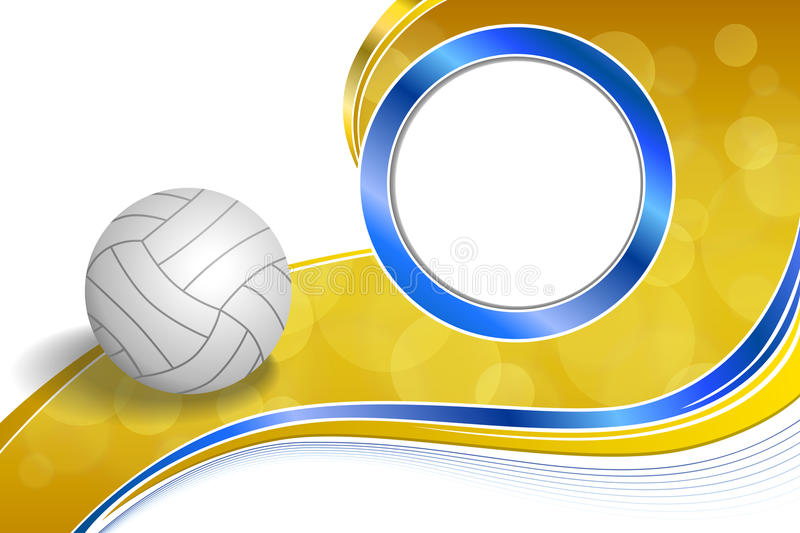 Volleyball Abstract Stock Photos Volleyball Abstract: Background Abstract Sport Volleyball Blue Yellow Ball