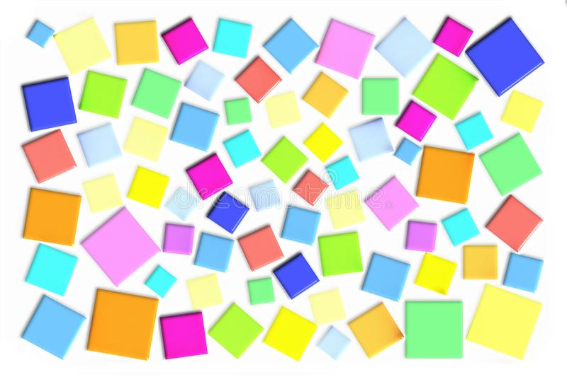 Background with abstract squares. Cubic abstract image. For business cards, making posters, background, etc royalty free illustration