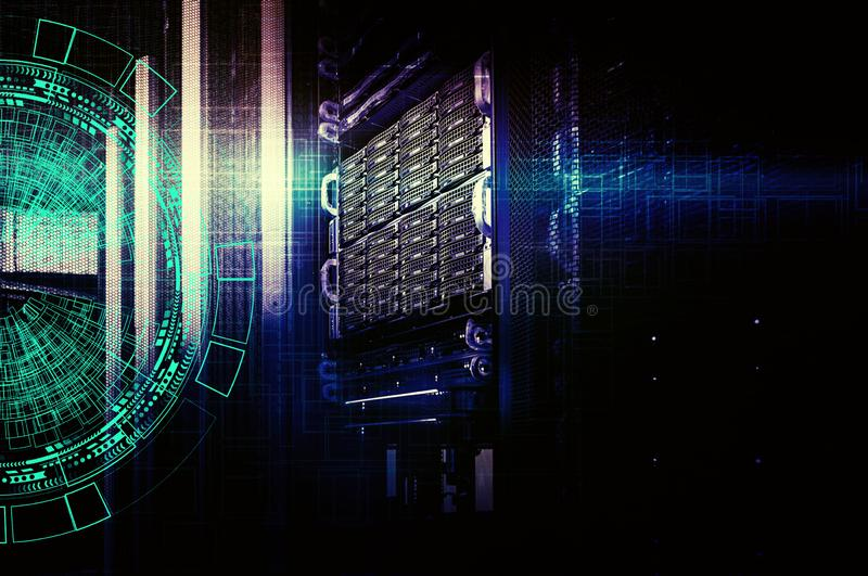 Background abstract technology communication concept. concept of disk storage data center. stock illustration