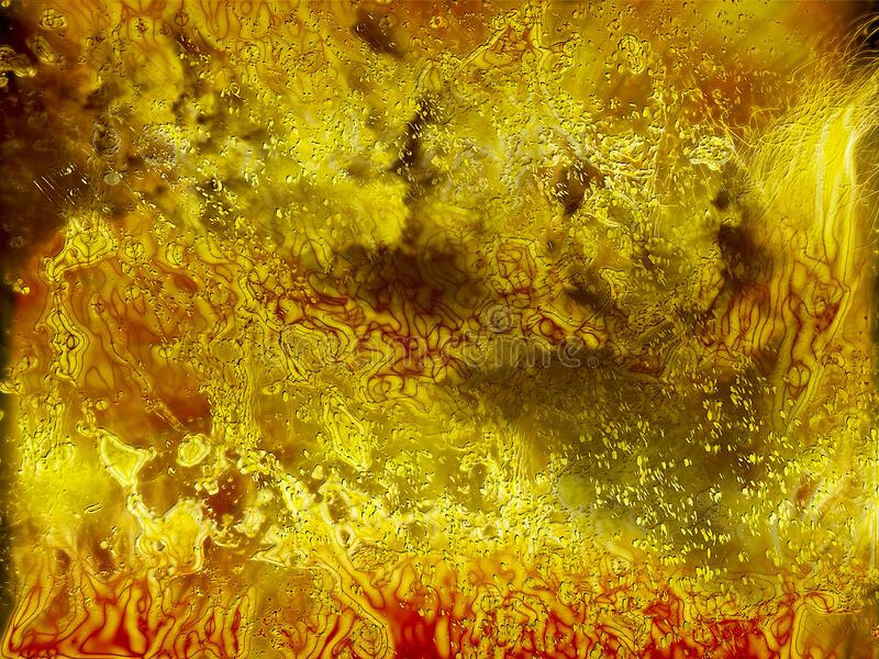 Background abstraction burning lava, hot hell template Halloween, wallpaper. Yellow stock image