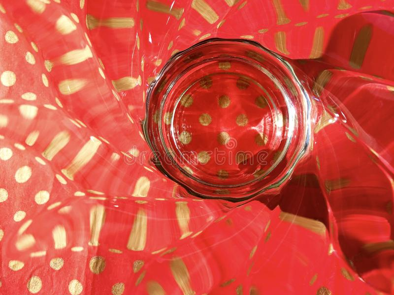 Background, abstraction, glass, shadow, red color. stock photography