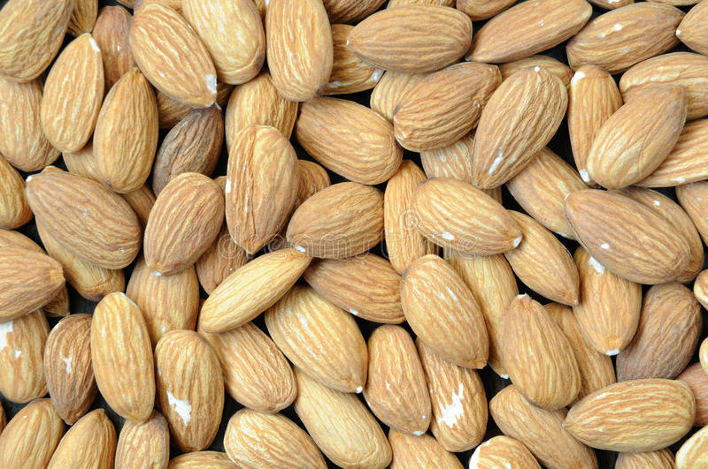 Download Background With Almonds. Close Up. Stock Photo - Image: 11360218