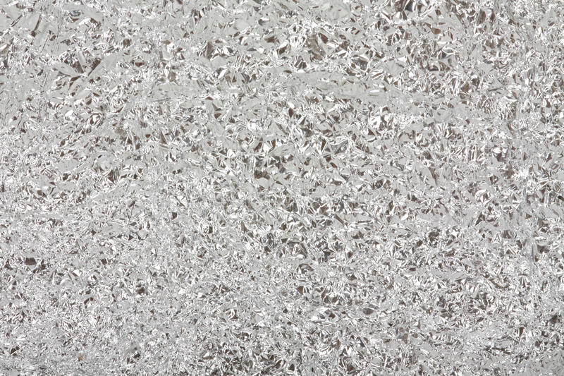 Background From An Aluminium Foil. Stock Image