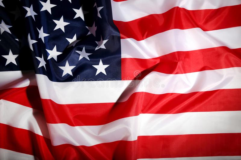 American flag. Background of american flag, close up stock photo