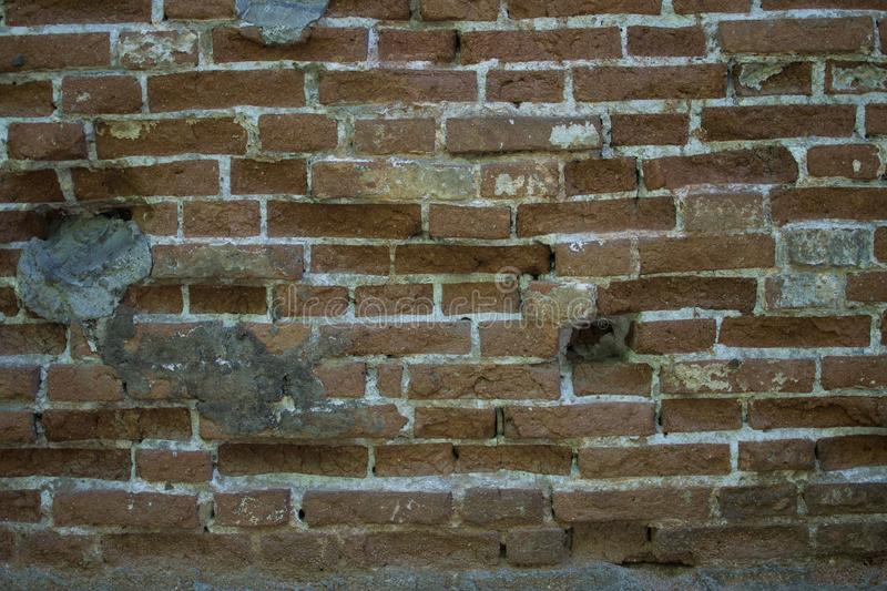 Background ancient arch red and brown brick royalty free stock images