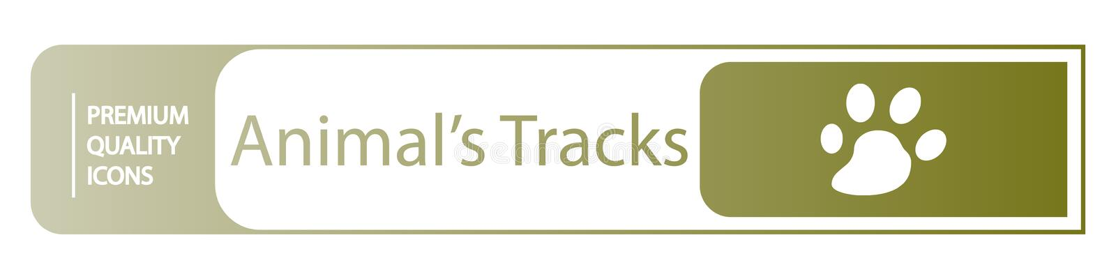 background animal tracks icons royalty free illustration
