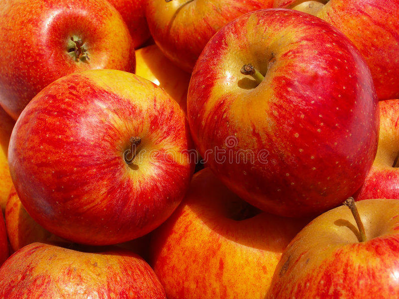 Background: Apples royalty free stock images
