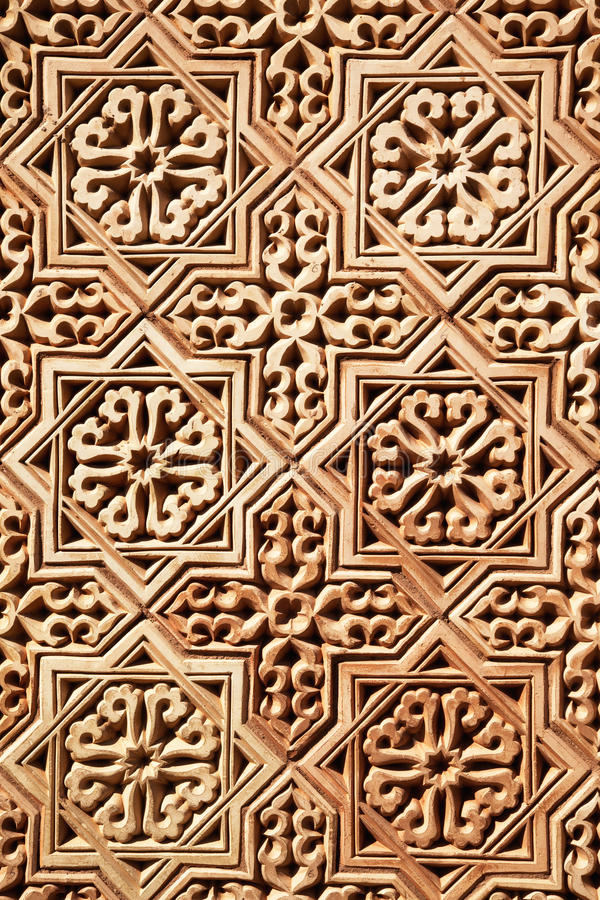 Background of Arabic pattern. Background of classical Arabic pattern royalty free stock image
