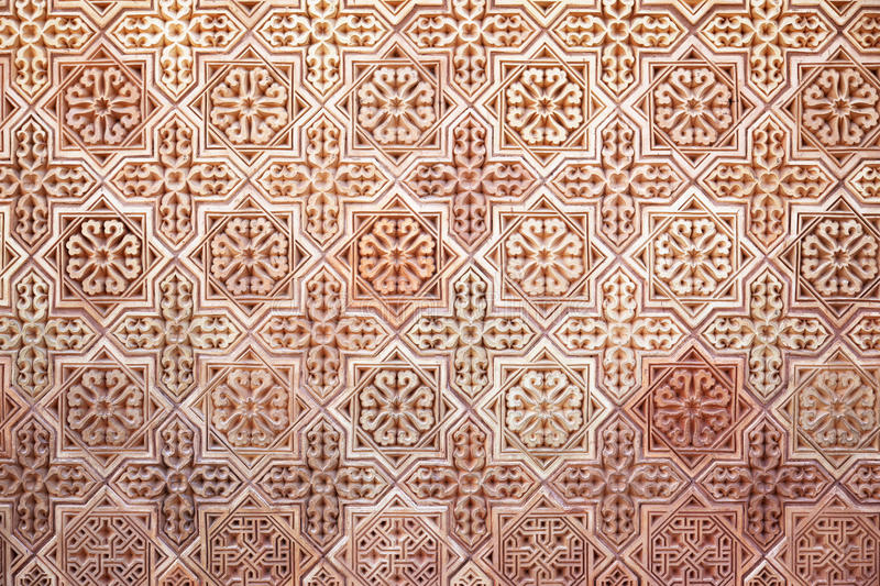 Background of Arabic pattern. Background of classical Arabic pattern stock photo